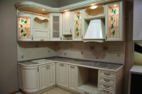 Кухня из натурального дерева - фото