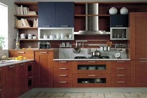 Кухни цвета ольха